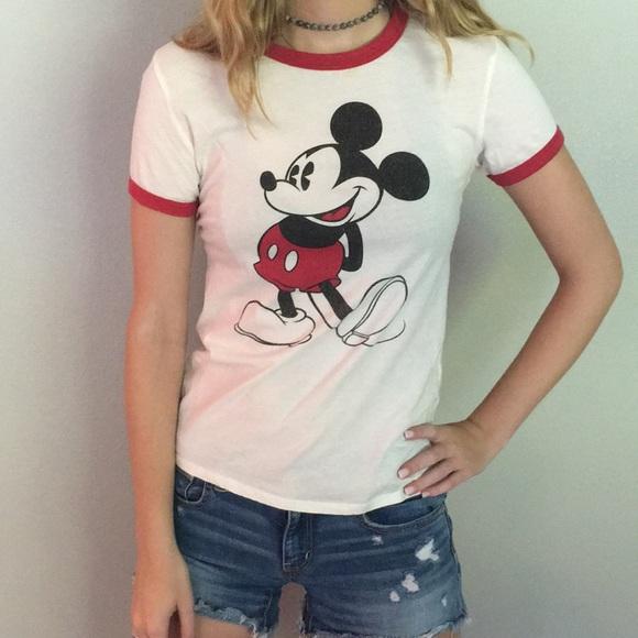 ae3cae3aab0f Disney Tops   Vintage Mickey Mouse Ringer Tee Size S   Poshmark